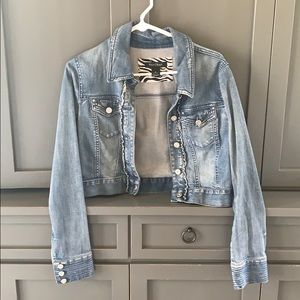 White house black market Jean jacket